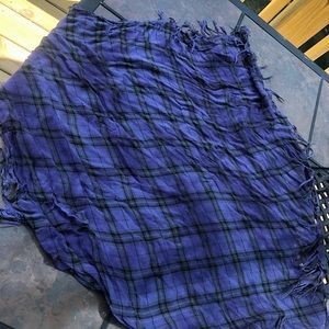 Accessories - Square purple plaid pattern scarf